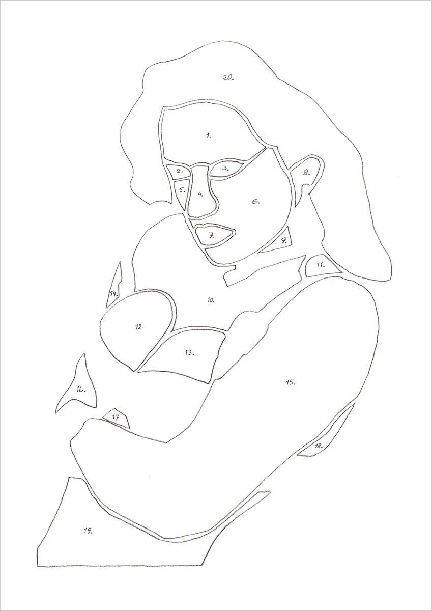tekening lichaam potlood